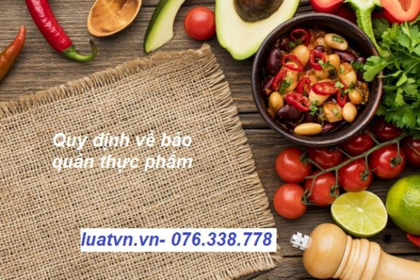 Quy định về bảo quản thực phẩm
