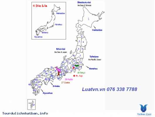 Danh sách các Tỉnh Nhật Bản