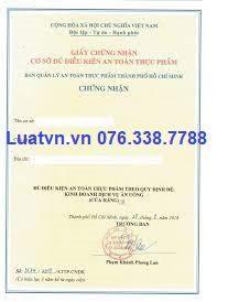 Thủ tục xin Giấy VSATTP tại TPHCM