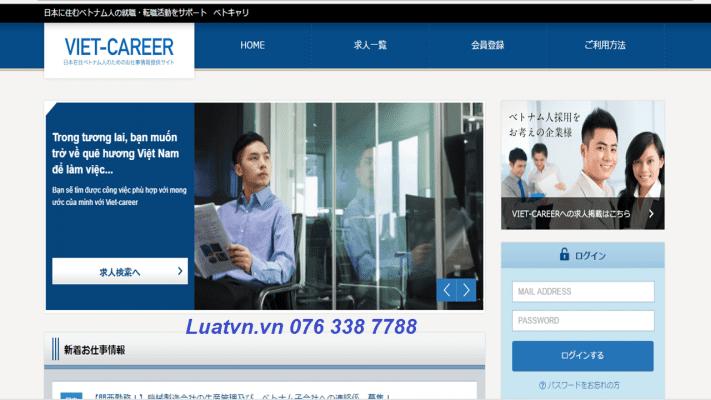 Trang web tìm việc cho người nước ngoài tại Nhật