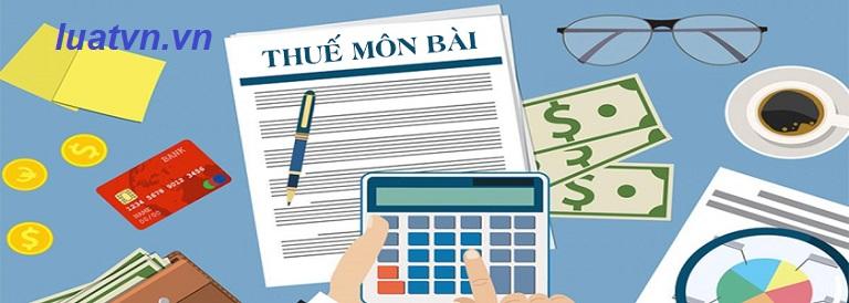 Bậc thuế môn bài dành cho doanh nghiệp, hộ kinh doanh, chi nhánh văn phòng đại diện