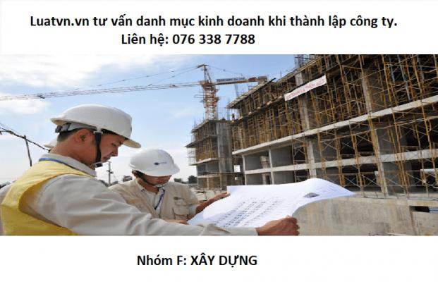 Chi tiết danh mục ngành xây dựng khi thành lập công ty