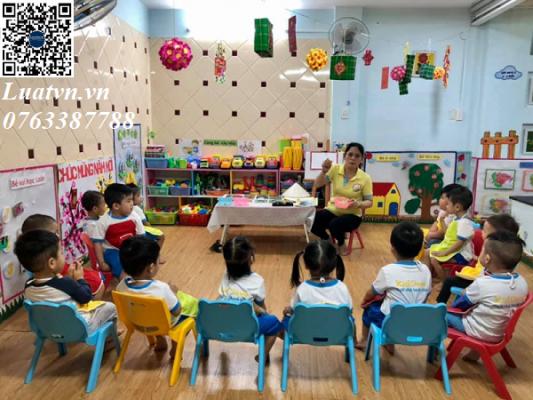 Thành lập nhóm trẻ và các lớp học mẫu giáo tư thục