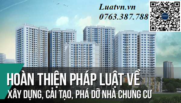 Tư vấn thủ tục xây dựng chung cư theo quy định pháp luật Việt Nam