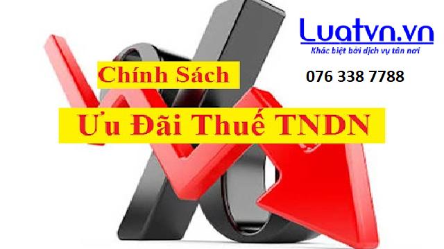 Ưu đãi, miễn giảm thuế TNDN